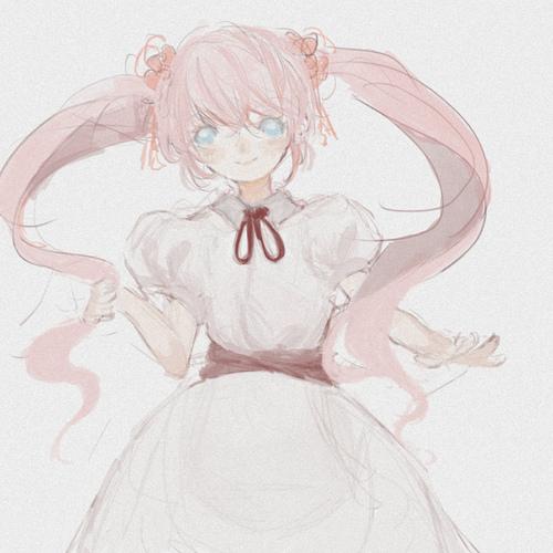 我会画一些粉红色的